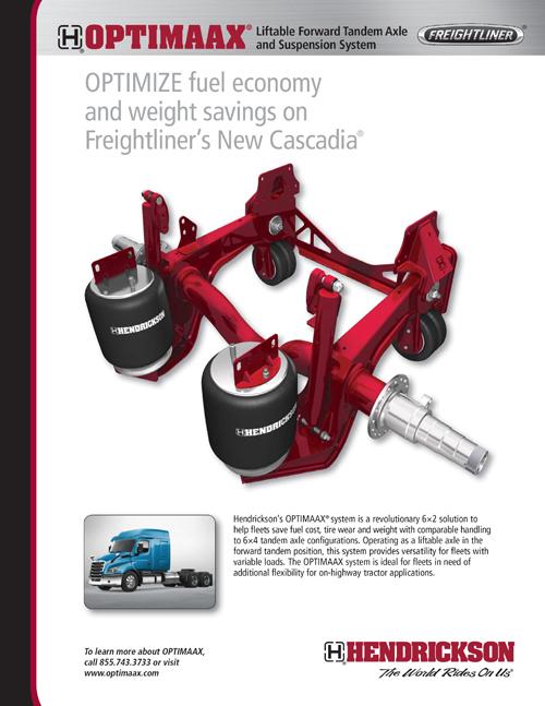 Hendrickson OPTIMAAX - Liftable Forward Tandem Axle and Suspension